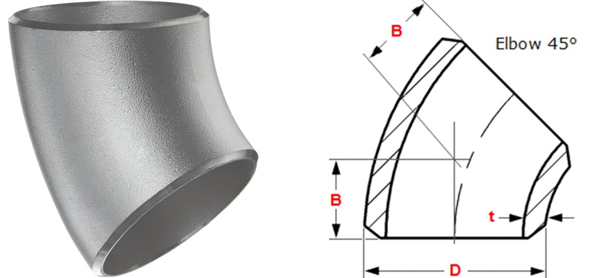 45 Degree Short Radius Elbow Manufacturers in India