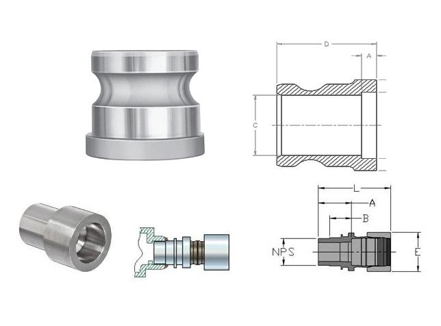 ASME B16.11 Socket Weld Adapters Dimensions