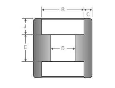 ASME B16.11 Socket Weld Full Coupling Dimensions