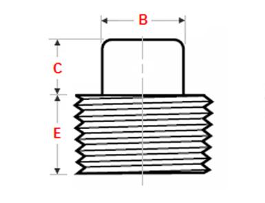 ASME B16.11 Threaded Square Head Plug Dimensions