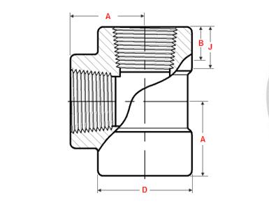 ASME B16.11 Threaded Tee Dimensions