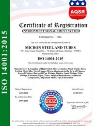ISO 14001:2015 Certificates