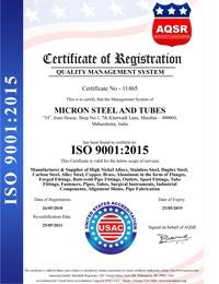 ISO 9001:2015 Certificates