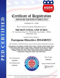 PED Certificates